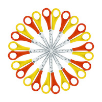 Westcott Left Handed Scissors 130mm Yellow and Orange (Pack of 12) E-21593 00