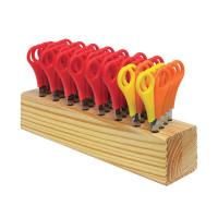 Westcott Childrens Wooden Scissor Block With 32 Pairs of Scissors 112TIDYC