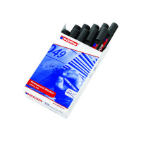 Edding 330 Permanent Black Chisel Tip Marker (Pack of 10) 330-001