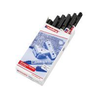 Edding 8404 Aerospace Permanent Marker Ultra Fine Black (Pack of 10) 8404-001