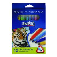 Swash Komfigrip Colouring Pen Fine Tip Assorted