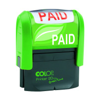 COLOP Green Line Word Stamp PAID GLP20PAID