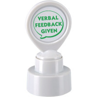 Colop Motivational Stamp VERBAL FEEDBACK GIVEN Pre-Inked Green 148673