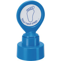 Colop Motivational Stamp YOUR NEXT Step Pre-Inked Blue 148675