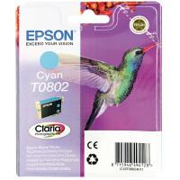 Epson T0802 Cyan Inkjet Cartridge C13T08024011 / T0802