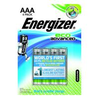 Energizer EcoAdvanced Alkaline AAA Batteries E92 (Pack of 4) E300128100