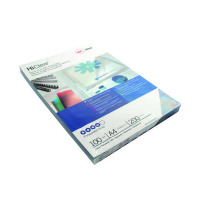 GBC HiClear Binding Covers PVC 200 Micron A4 Super Clear (Pack of 100) CE012080U