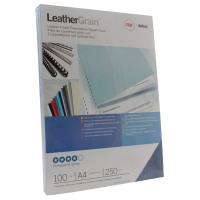 GBC LeatherGrain 250gsm A4 Royal Blue Binding Covers (Pack of 100) CE040029U
