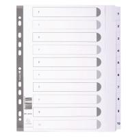 Dividers Mylar A4 Maxi White 1-10 MWD1-10Z-EW