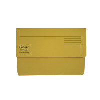 Guildhall Forever Bright Yellow Document Wallet (Pack of 25) 211/5003