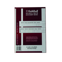 Guildhall Headliner 6 Cash Column Account Book 38/6 1147