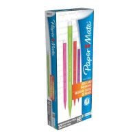 PaperMate Non-Stop Automatic Pencils 0.7mm HB Assorted Neon (Pack of 12) 1906125