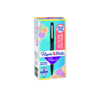 Papermate Black Flair Fibre Tip (Pack of 12) S0190973