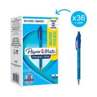 Papermate FlexGrip Ultra Retractable Medium Blue Ballpoint Pen (Pack of 36) 1910074