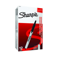 Sharpie Retractable Marker Fine Black (Pack of 12) S0810840
