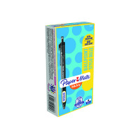 PaperMate Inkjoy 300 Retractable Ballpoint Pen Medium Black (Pack of 12) S0959910