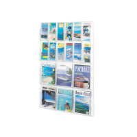 Safco Magazine and Pamplet Display Rack 6xA4/6xDL Pockets 5600CL