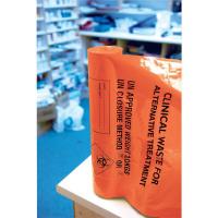 Clinical Waste Sack For Alternative Treatment Heavy Duty 10kg Capacity Orange AT25/M085