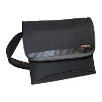 Monolith Nylon Laptop Messenger Bag Black 2386