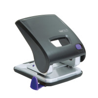Rapesco X5-30ps Less Effort 2 Hole Punch 30 Sheets Black and purple 1171