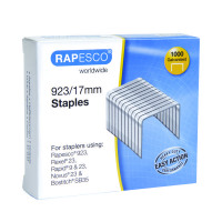 Rapesco 923/17mm Staples (Pack of 1000) 1240