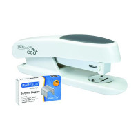 Rapesco Eco Sting Ray Half Strip Stapler White 1483