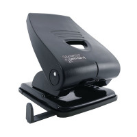 Rapesco Black 835-P Heavy Duty 2-Hole Punch Metal Black PF835PB2