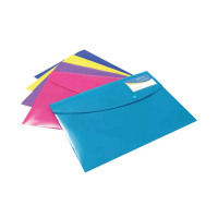 Rapesco ID Popper Wallet A4 Plus Solid Assorted (Pack of 5) 0701