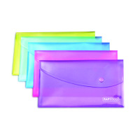 Rapesco A5 Assorted Popper Wallets Pack of 5 0689