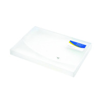 Rapesco Rigid Wallet Box File 25mm A4 Clear (25mm capacity, holds up to 250 sheets) 0708