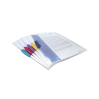 Rapesco A4 Assorted Pivot Clip Files (Pack of 5) 0786