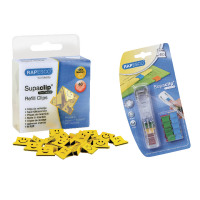 Rapesco Supaclip Refills Yellow Emoji (Pack of 100) with Free Dispenser HT02065PRO