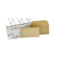 Postmaster Envelope 114x235mm Oversize DL Window 80gsm Gummed Manilla (Pack of 500) D29152
