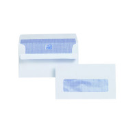 Plus Fabric Envelope 89x152mm Window 110gsm Self Seal White (Pack of 500) L22070