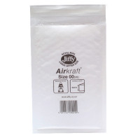 Jiffy AirKraft Mailer Size 00 115x195mm White JL-00 (Pack of 10) MMUL04600