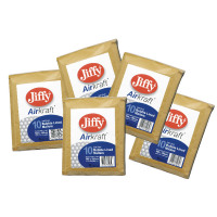 Jiffy AirKraft Mailer Size 00 115x195mm Gold GO-00 (Pack of 10) MMUL04601
