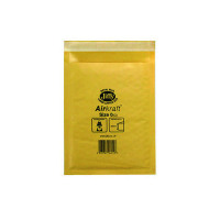 Jiffy AirKraft Mailer Size 0 140x195mm Gold GO-0 (Pack of 10) MMUL04602