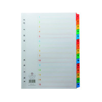 Concord 1-15 A4 White With Multi-Colour Index Tabs 01601/Cs16