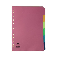 Concord 6-Part Subject Divider Bright A4 Assorted 50799