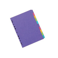 Concord Divider 10-Part A4 270gsm Bright Assorted 52699/526