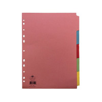 Concord 5-Part Subject Dividers A4 Assorted 71199/J11