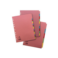 Concord 5-Part Reinforced Subject Divider A4 Assorted 77099