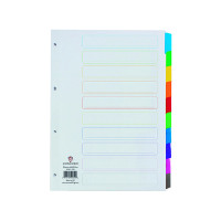 Concord Index 10-Part A4 White With Multicolour Tabs 00801/CS8