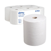 Kleenex Ultra Hand Towel Roll 130m 2-Ply White (Pack of 6) 6765