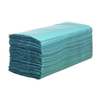 Hostess Blue Hand Towels 224 Sheets (Pack of 12) 6876