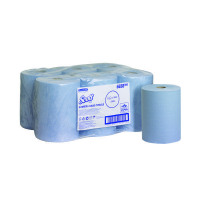 Scott Slimroll Blue Hand Towel Roll (Pack of 6) 6658
