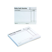 Q-Connect White Petty Cash Voucher Pad 125x101mm (Pack of 10) KF00103