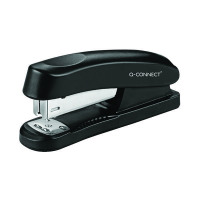 Q-Connect Half Strip Plastic Stapler Black KF01056