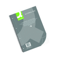 Q-Connect Ruled Margin Spiral Soft Cover Notebook 160 Pages A4 (Pack of 5) KF01072