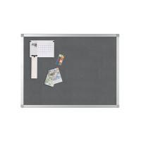 Q-Connect 1200x900mm Aluminium Frame Grey Notice Board 9700026